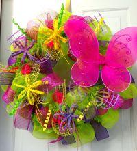 Spring Butterfly Wreath - Summer Door Wreath - Butterfly ...