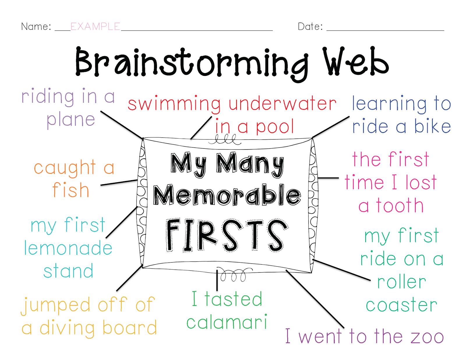 Personal Narrative Brainstorming