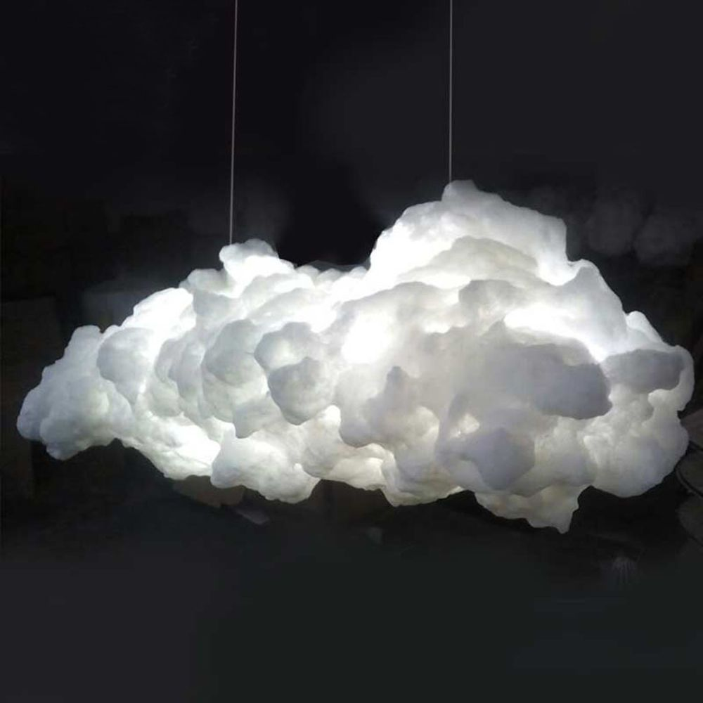 White Cloud Lampshade Contemporary Ceiling Light Pendant