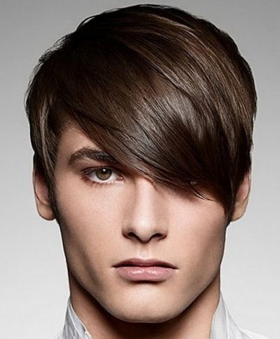 Men's Hairstyle Hair Long And Brushed Forward On Top Short