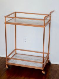 DIY copper marble bar cart | Kitchen/dining | Pinterest ...