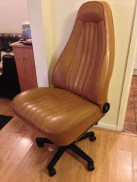 Office chair built from an old Porsche car seat ...