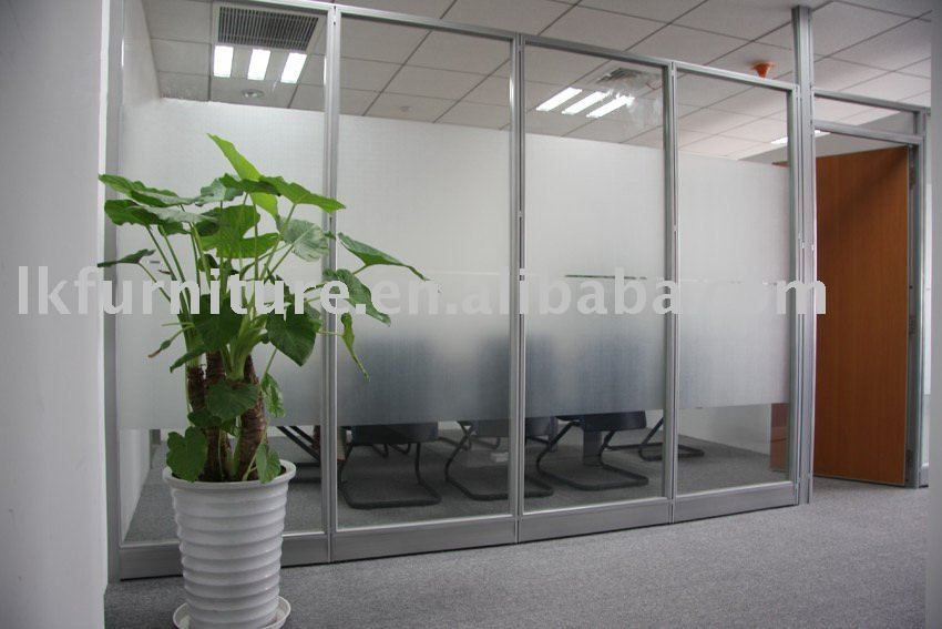 Great Design Of Office Glass Partition Wall In Aluminium