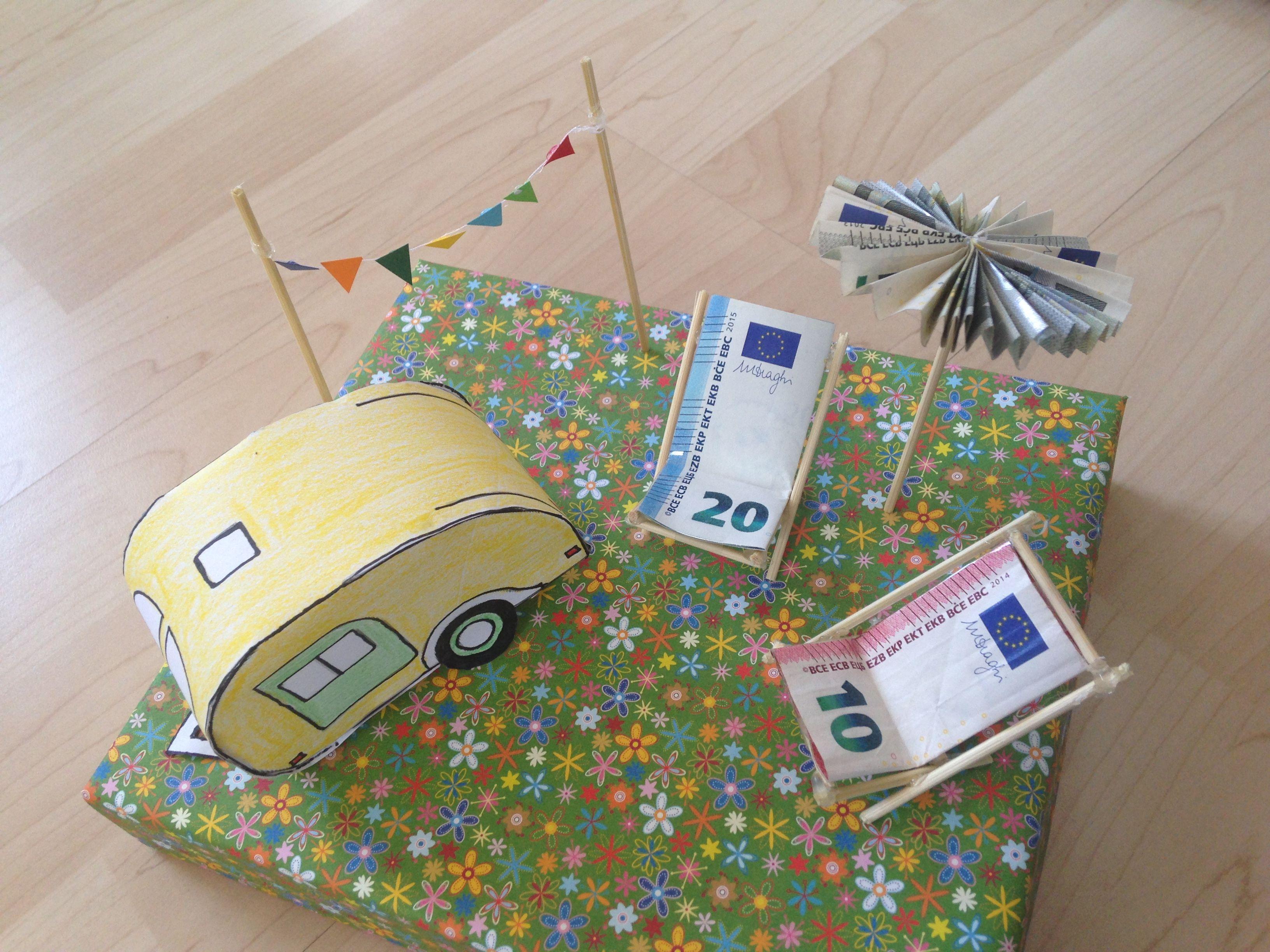 Geldgeschenk Wohnwagen  Geschenke  Pinterest  Geldgeschenke Wohnwagen und Hochzeitsgeschenke