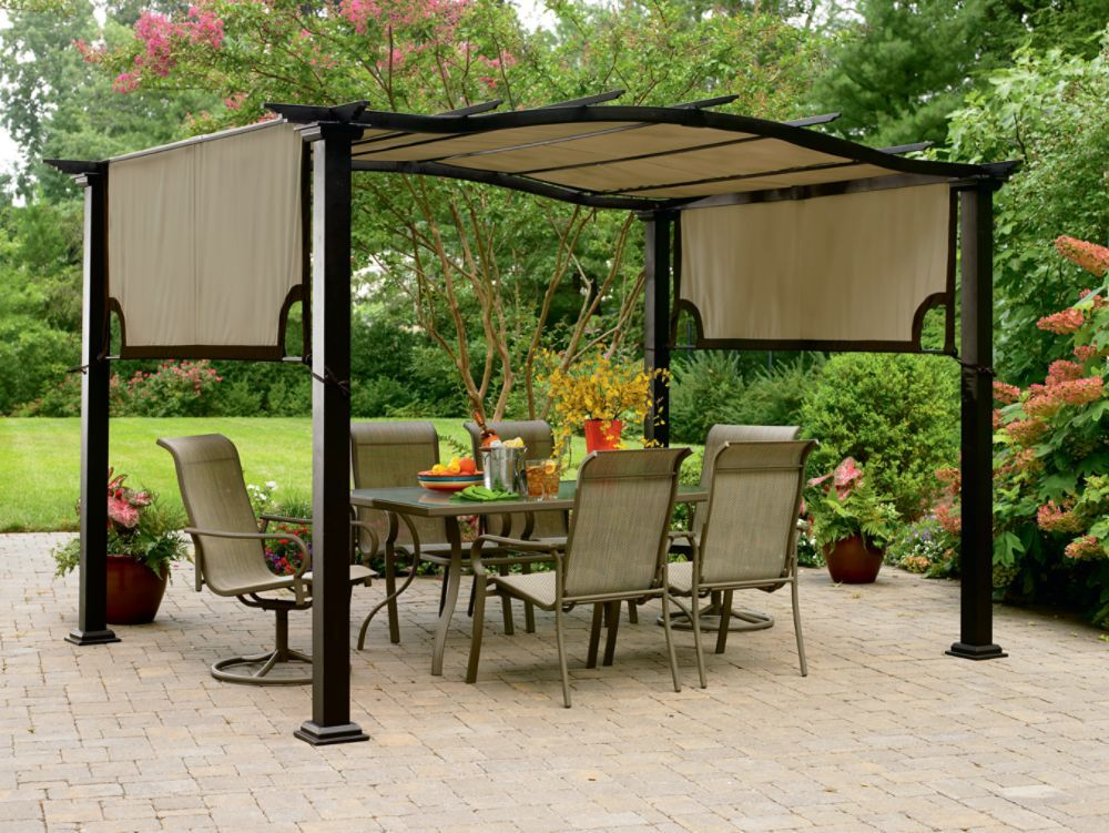 Garden Oasis 8 Ft X 10 Ft Curved Pergola Canopy Home Ideas