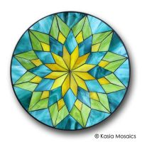 Stained Glass Mosaic Mandala by Kasia Mosaics Visit www ...