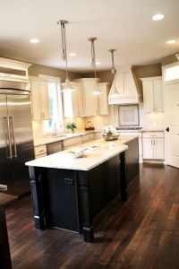 Asian Walnut flooring Granite Kitchen