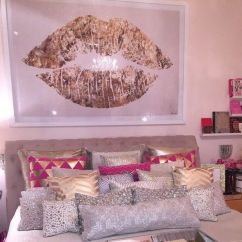 Fluffy Desk Chair Shower Bed Bath And Beyond Home Accessory Pillow Gold White Pink Hot Silver Painting Poster Lip Lips ...