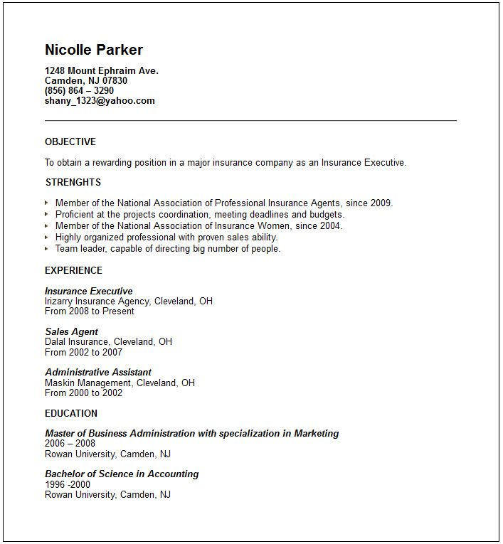 Executive Resume Example Help You To Write A Professional Resume