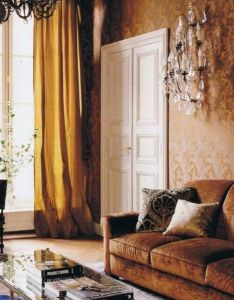 Jacques upholstered the walls in  bronze jacquard fabric and juxtaposed flemish chandelier with carpet of his own design which was made nepal also grange interior pinterest paris apartments rh