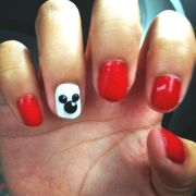 mickey mouse nail design disney