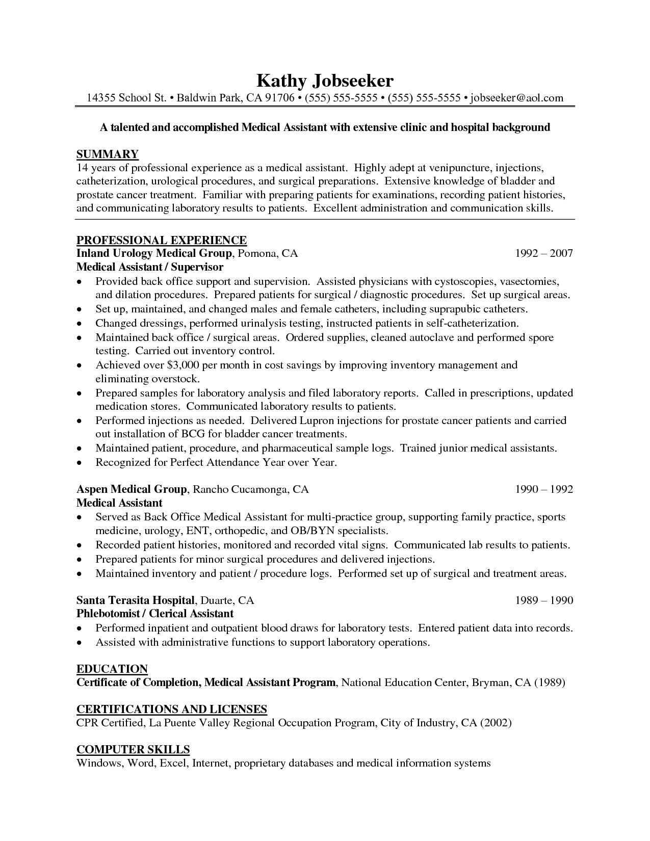 Ma Resume Examples