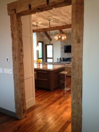 Frame your doorway in hand hewn beams and create an ...