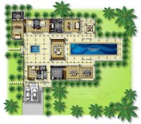 house plans with courtyards in the center | Central ...