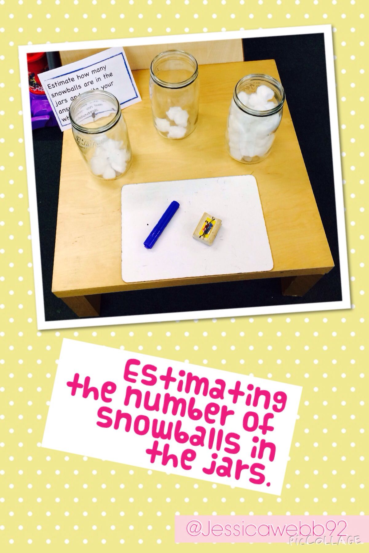 Estimating The Number Of Snowballs In The Jars Eyfs
