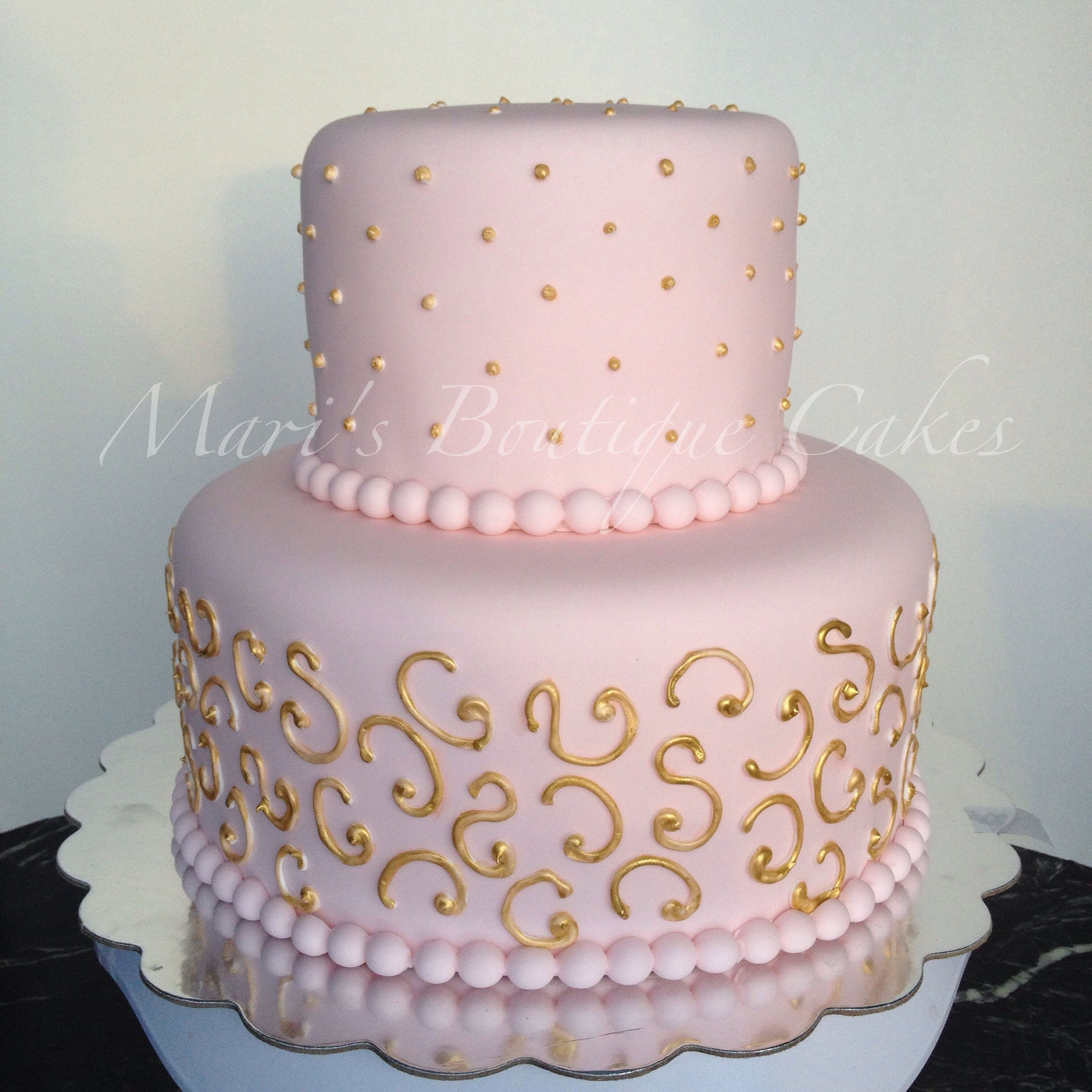 Cakes Girls And Diaper Gold Pink