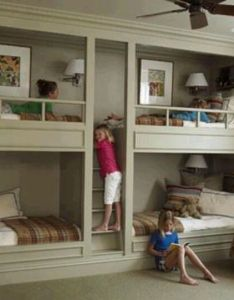 Wall of beds kidsroomhome ideasbed also good idea pinterest and rh