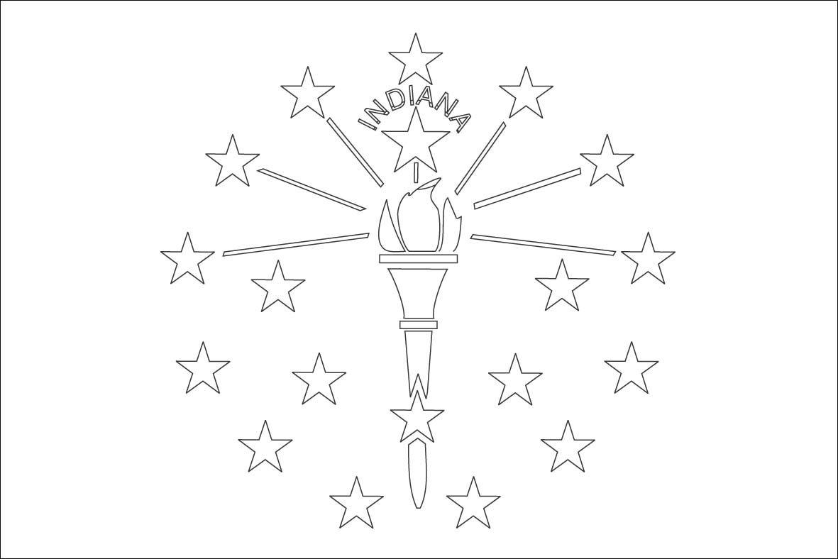 Indiana Flag Outline