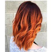 glossy orange hair color ideas