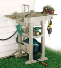 The NO-CRANK Hose Reel with Sink Station is great for ...