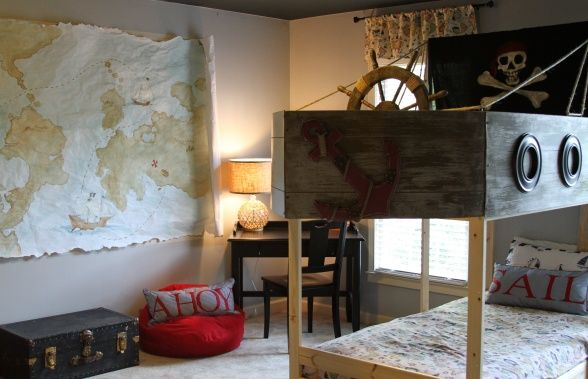 Bedrooms also pirate boys bedroom  created an awesome themed for rh pinterest