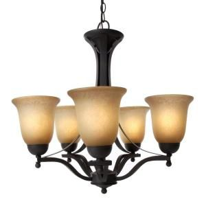 Commercial Electric 5 Light Rustic Iron Chandelier