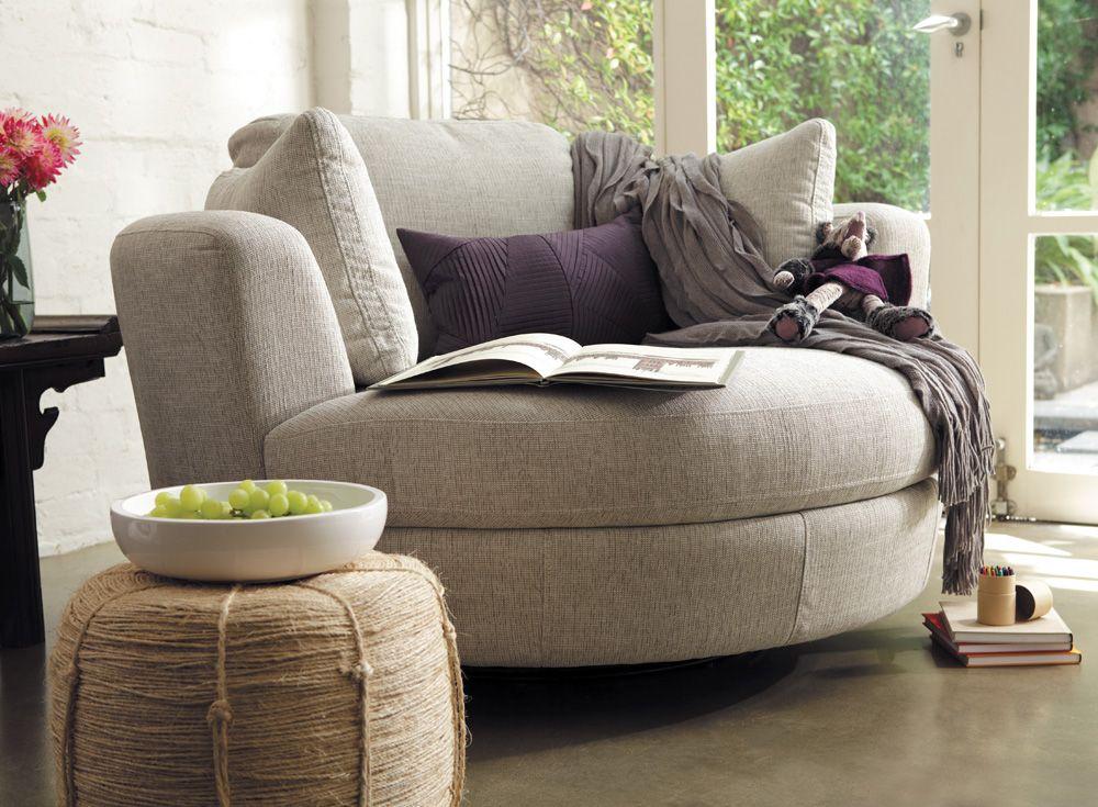 cuddler swivel sofa chair  Home Decor
