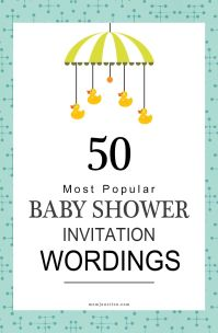 75 Most Popular Baby Shower Invitation Wordings ...