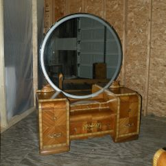 Vintage Bedroom Chair Ebay Shower With Arms And Backrest Antique Art Deco Waterfall Furniture Set Full