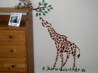Large giraffe wall stencil childrens bedroom decor nursery ...