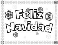 Letrero feliz navidad para colorear.   Navidad y Ao Nuevo ...