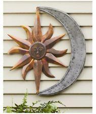 Outdoor metal wall art also decor sun moon garden sculpture home patio accent rh pinterest