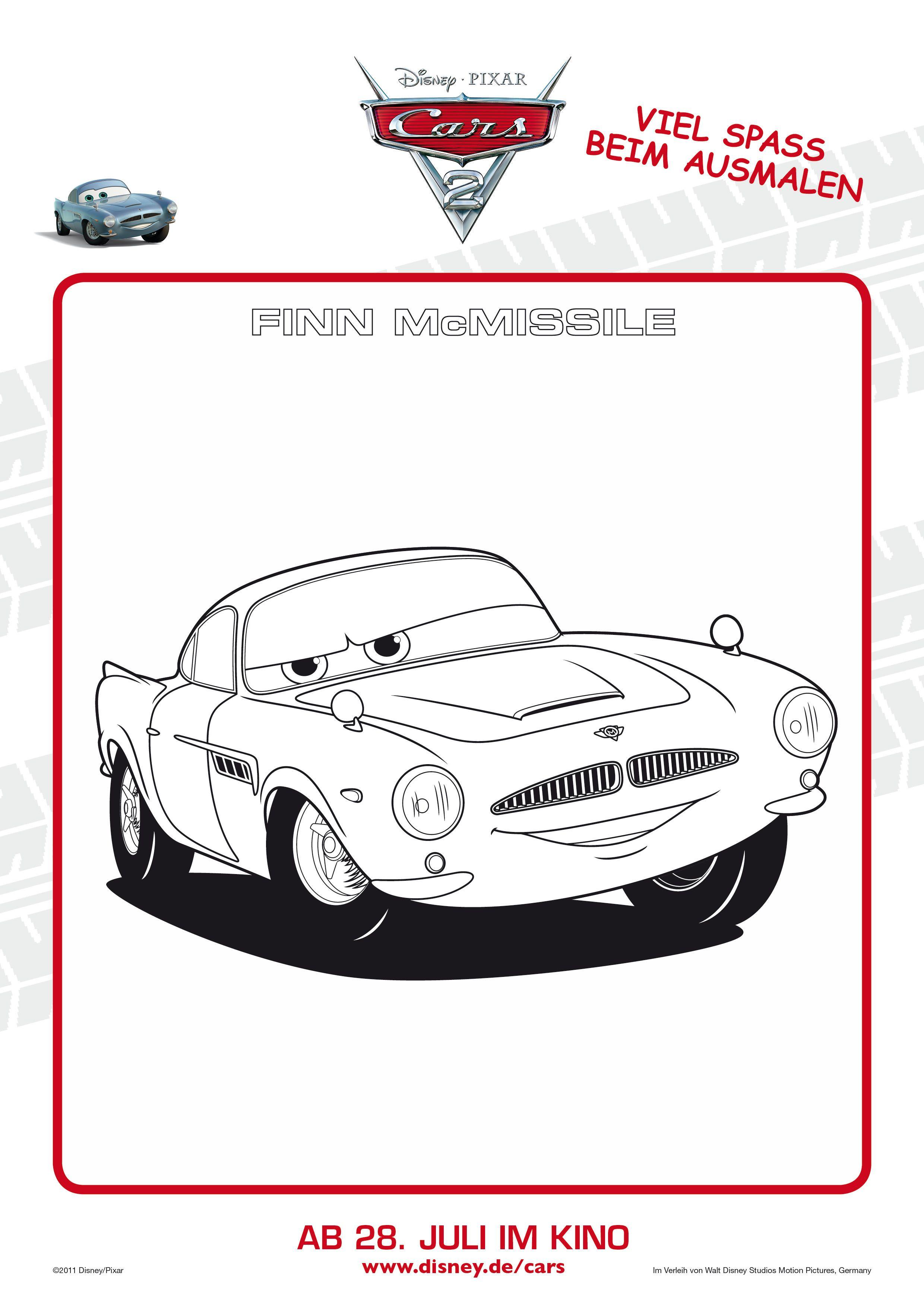 Cars 2 ausmalbilder kostenlos ausdrucken - Ausmalbilder