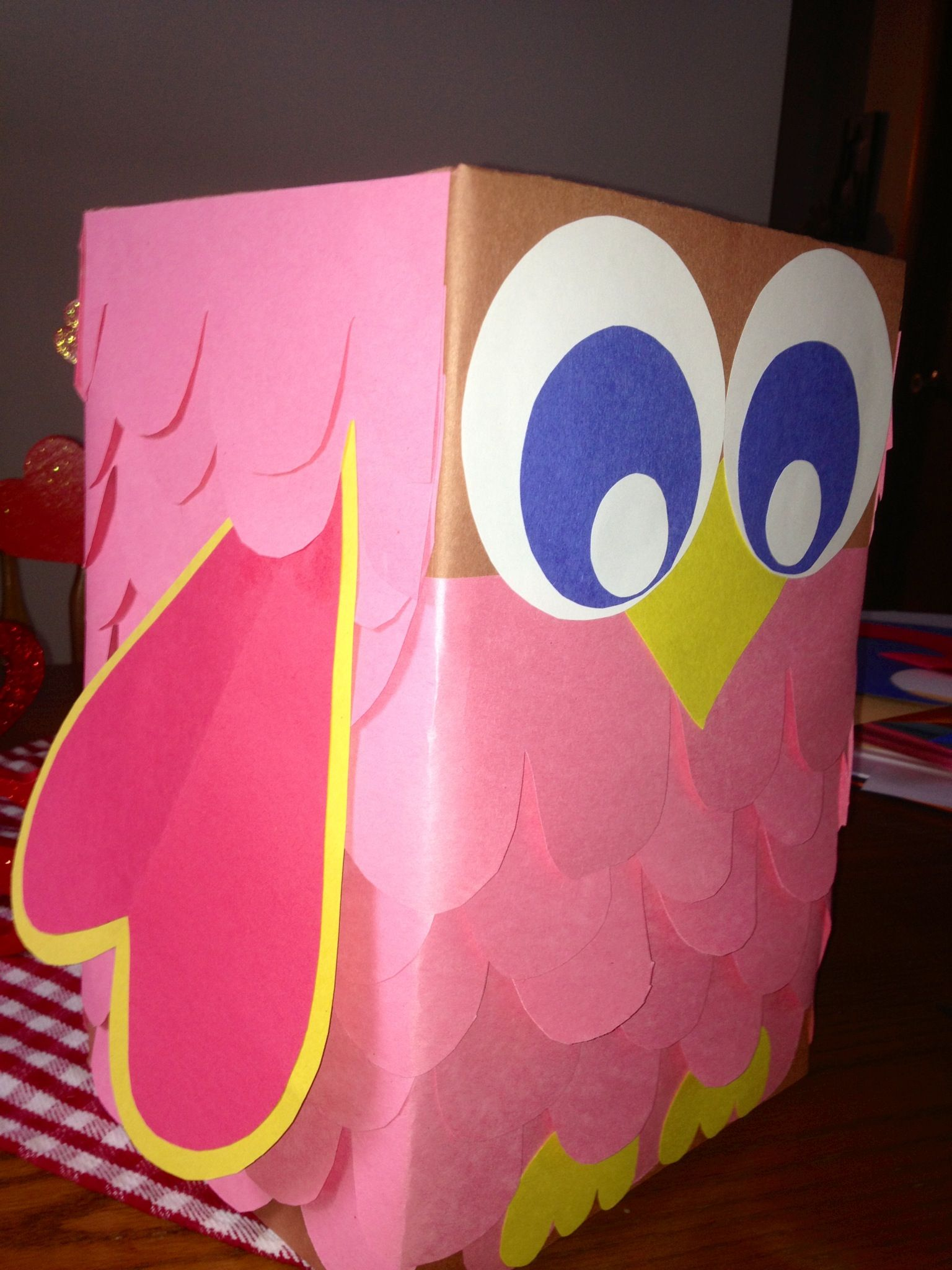 Owl Valentine Box Spring