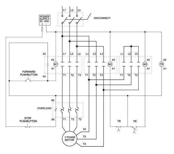 Wye Delta Open Transition 3 Phase Motors 576×508 Elektro