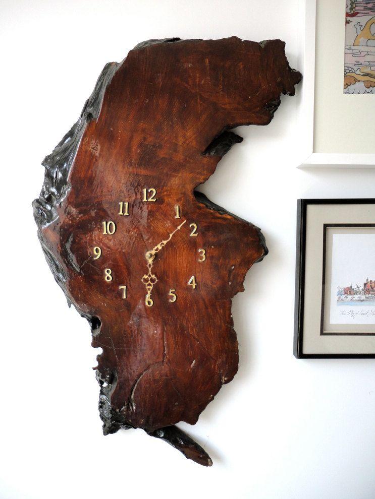 Image Clock Dear Large Wall Wood