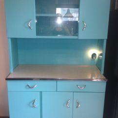 Vintage Kitchen Hutch Ideas For Backsplash Refinished 1950 39s Metal My Work Pinterest
