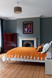 Orange and grey | Minimal, Gray color and Bedrooms