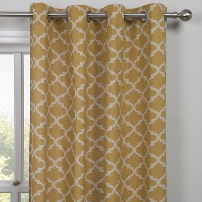 Moroccan Yellow Single Panel Curtain From All Recycled Cotton