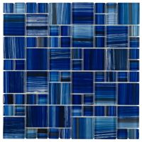 Glass Mosaic Tile Royal Blue Pattern | Glass mosaic tiles ...