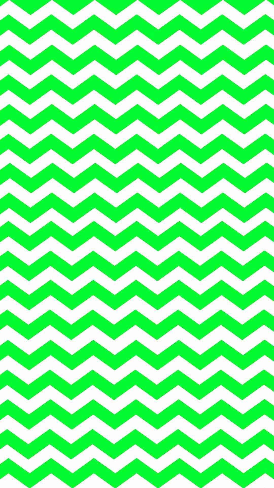 Eye Catching Green Zigzag Iphone 6 Plus Wallpaper