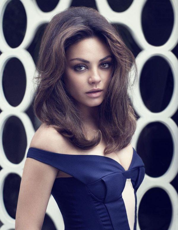 Mila Kunis 60s Glam In Elle Uk' August Cover Shoot