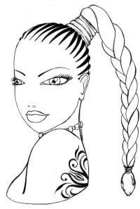 Afro Hair Coloring Pages