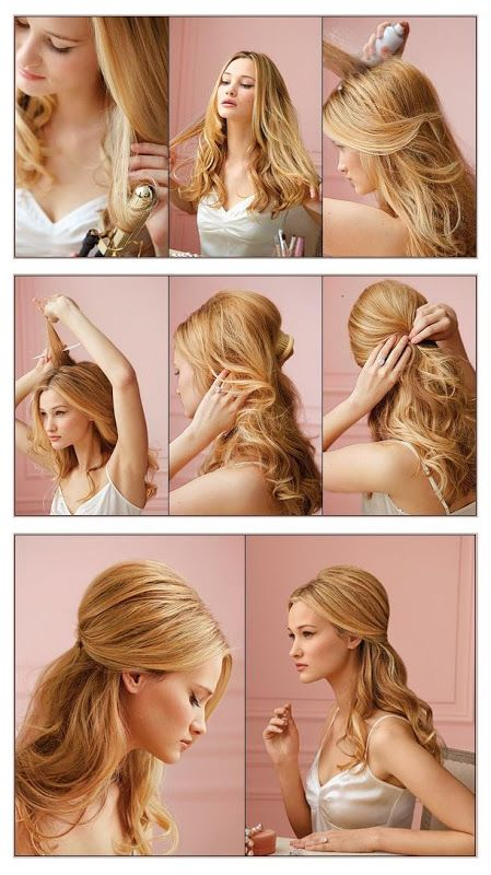 60 Simple DIY Hairstyles For Busy Mornings 3 Half And Curls Hair