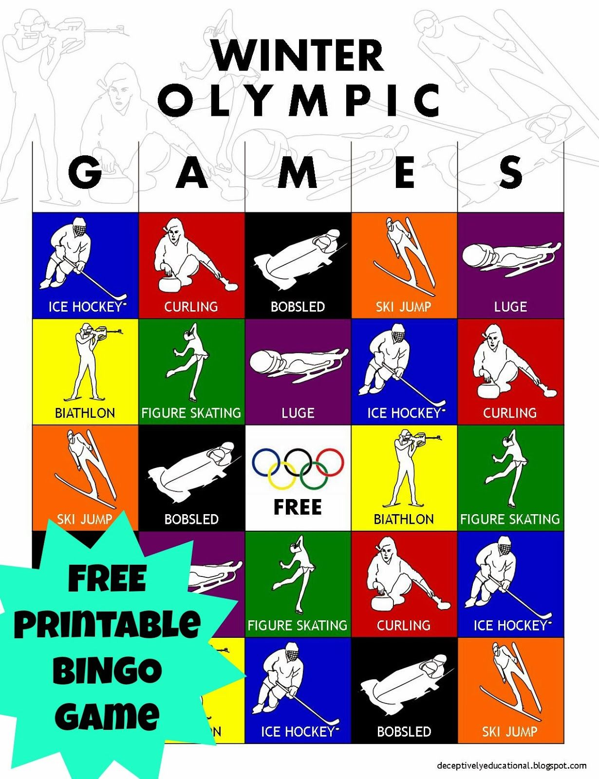 Relentlessly Fun Deceptively Educational Olympic Winter