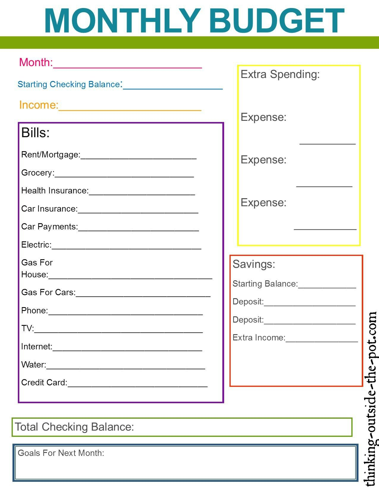 Family Budget Template For Excel Or Later Excel For