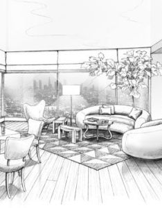 black and white rendering of waldo fernandez   living room interior design concept pinterest search rooms also rh