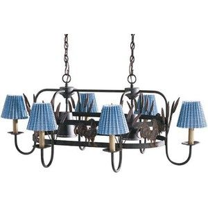 French Country Rooster Chandelier And Pot Rack