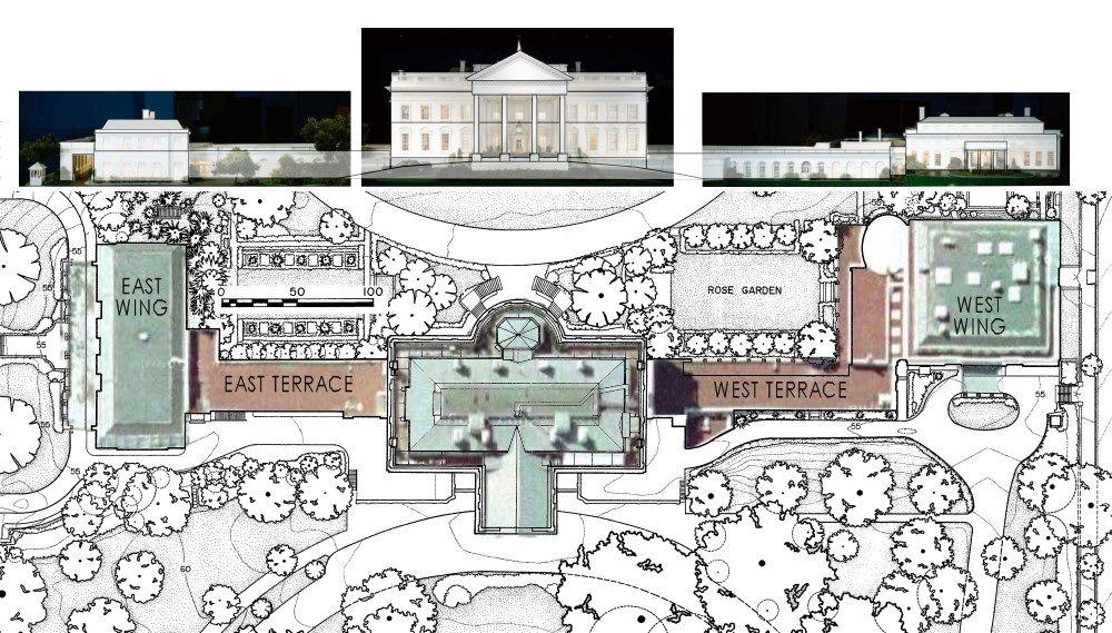 floor plan of white house  The White House Floor Plan Oval Office  Architecture  Pinterest