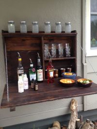 Outdoor Murphy bar.   Mancave   Pinterest   Bar